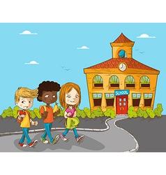 Education back to school cartoon kids vector