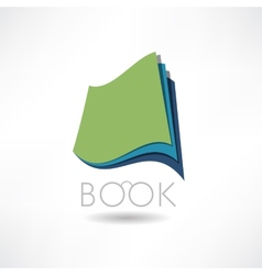 Book of knowledge abstract icon vector