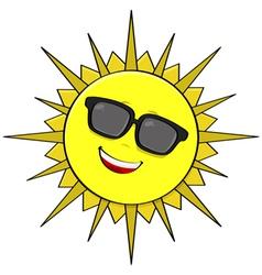 Sun shades vector