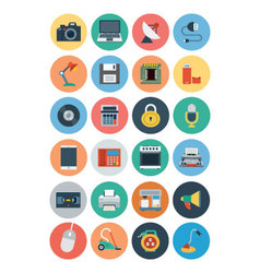 Electronics flat icons 1 vector