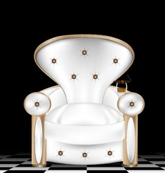 White armchair vector