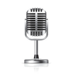 Object retro microphone vector