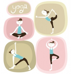 Zen and yoga icons vector