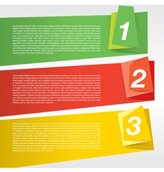 Colorful origami banner template eps10 vector