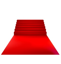 Velvet staircase vector