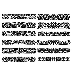Black and white ornaments or borders vector