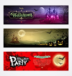 Happy halloween collections banner design vector