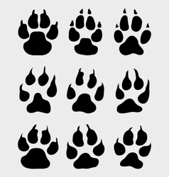 Print of paw vector