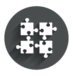 Puzzles pieces sign icon strategy symbol vector