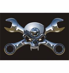 Metal jolly roger vector