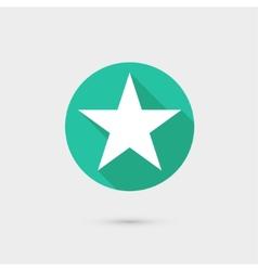 Star icon long shadow flat design vector