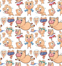 Seamless pigs vector