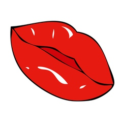 Full lips and sensual vector