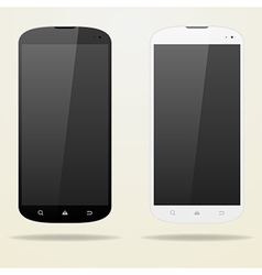 Two empty smartphone white and black buttons vector