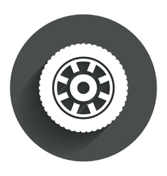 Car wheel sign icon circular transport component vector