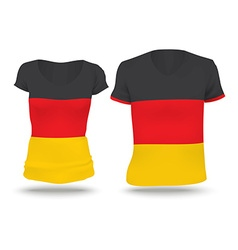 Flag shirt design of germany vector