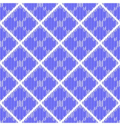 Design colorful seamless knitted pattern vector