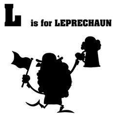 Leprechaun cartoon silhouette vector