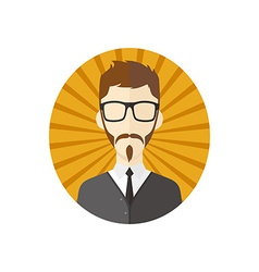 Man hipster avatar user picture cartoon character vector