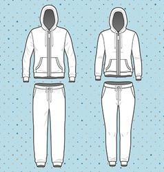 Hoodi and sweatpants set vector