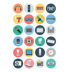 Electronics flat icons 3 vector