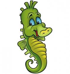 Smiling seahorse vector