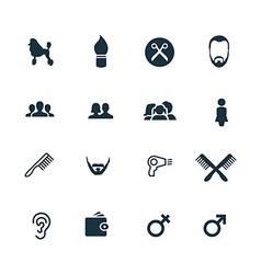 Set of barbershop icons vector