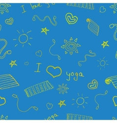 Yoga sign seamless pattern background vector