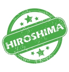 Hiroshima green stamp vector