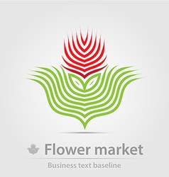 Flower market business icon vector