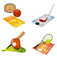 Sport equipment concept set vector