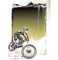 Mountain bike poster vector