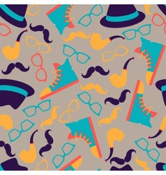 Hipster style seamless pattern vector