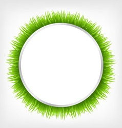 Circle with grass vector