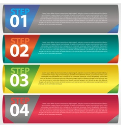 Abstract modern banner with numbered eps10 vector