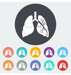 Lungs in black and white vector