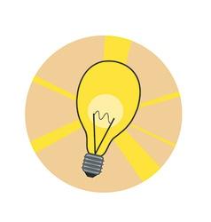 Shiny lamp icon vector