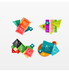 Set of modern geometric infographic web layouts vector