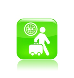 Travel direction icon vector