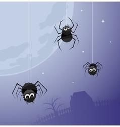 Creepy spiders background vector
