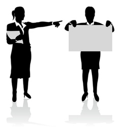 Business people pointing vector