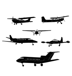 Airplanes vector