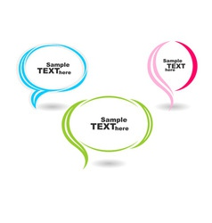 Speech colour bubbles text vector