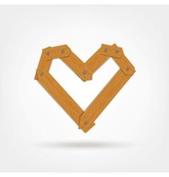 Wooden boards heart shape vector