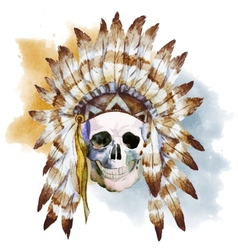 Native skull vector