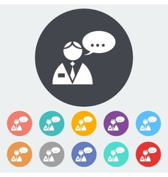Man speak single icon vector