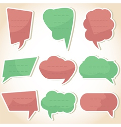 Set of speech bubbles and dialog balloons vector