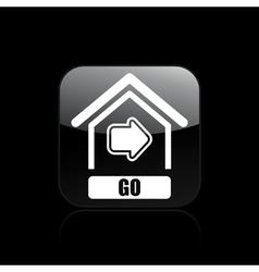 Go button icon vector