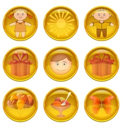 Buttons set childhood vector