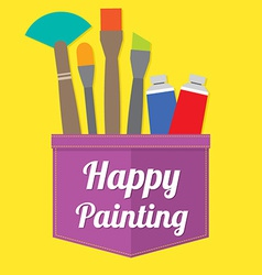 Happy painting vector